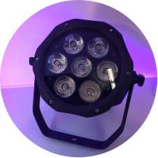 IP65 imperméable 7x18w RGBAW UV 6in1 led pair lumière