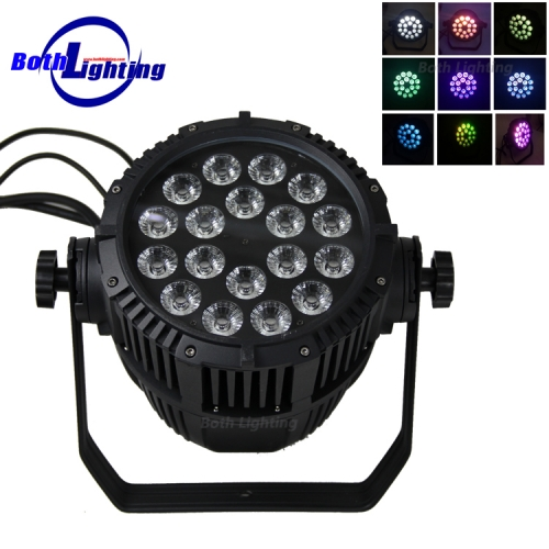 IP65 imperméable 18 * 18W RGBWA UV 6in1 LED pair lumière