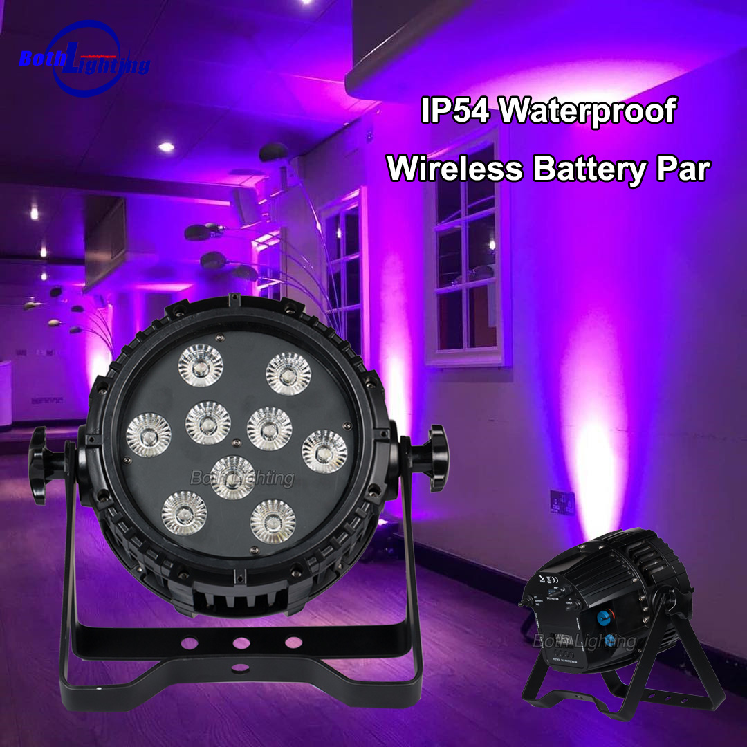 Commentaires des clients - Batterie IP54 9x18w HEX Waterproof Par Light